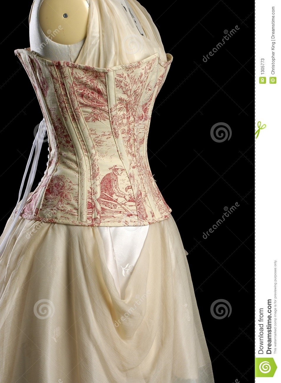 Vintage Corset And Dress On A Models Dummy Stock Photos - Image ...