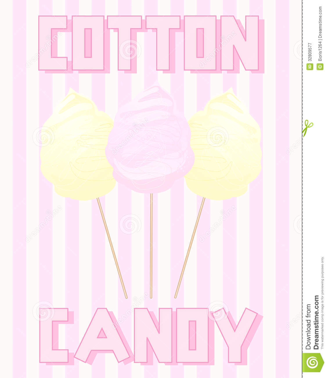 Cotton Candy Sign: Vintage Cotton Candy Royalty Free Stock Photography