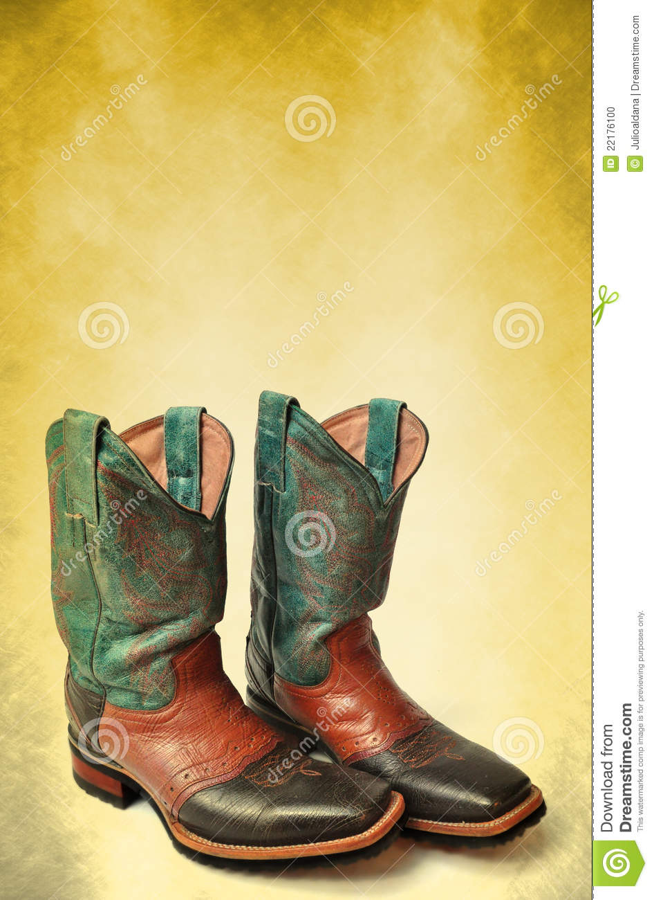 Vintage Cowboy Boots Poster - Card Template Stock Photo - Image of ...
