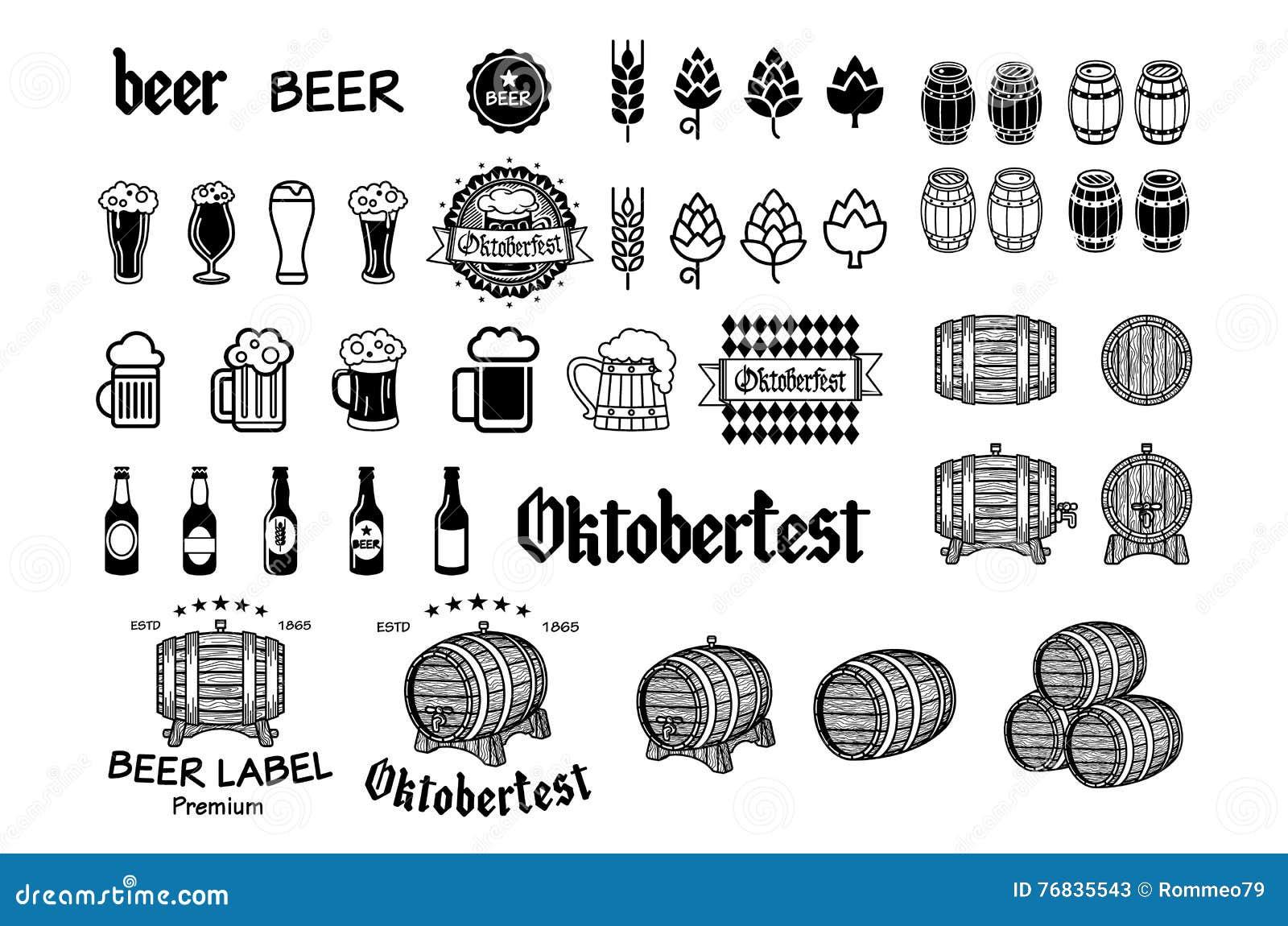 Vintage Craft Beer Brewery Emblems Labels And Design Elements Vector Stock Vector Illustration Of Badge German 76835543,Funeral Program Design