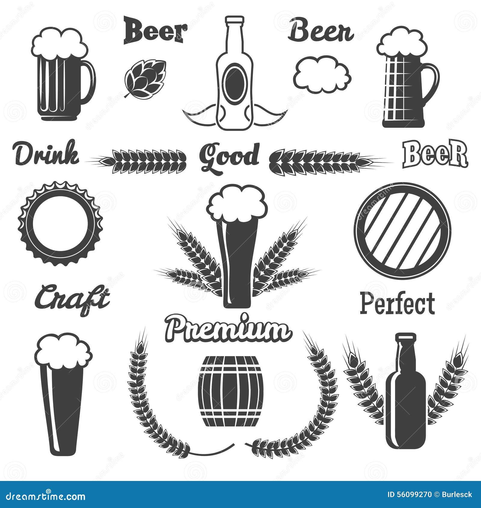 Vintage Craft Beer Design Elements Stock Vector
