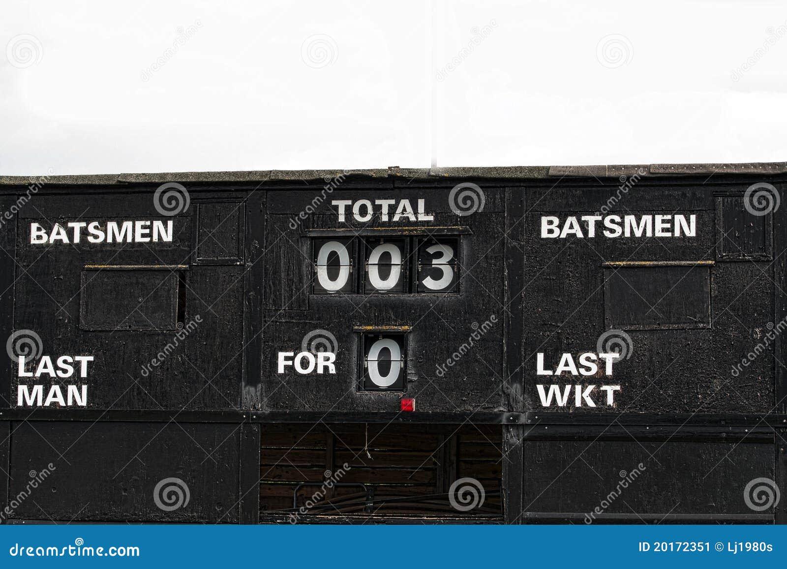 Vintage Cricket Score-board Stock Image - Image of english, vintage