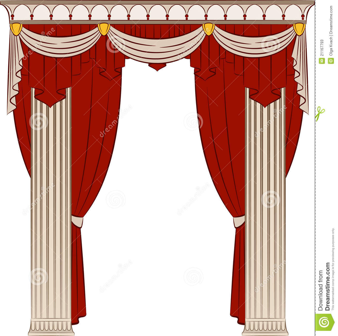 Red curtain designs the vintage curtain
