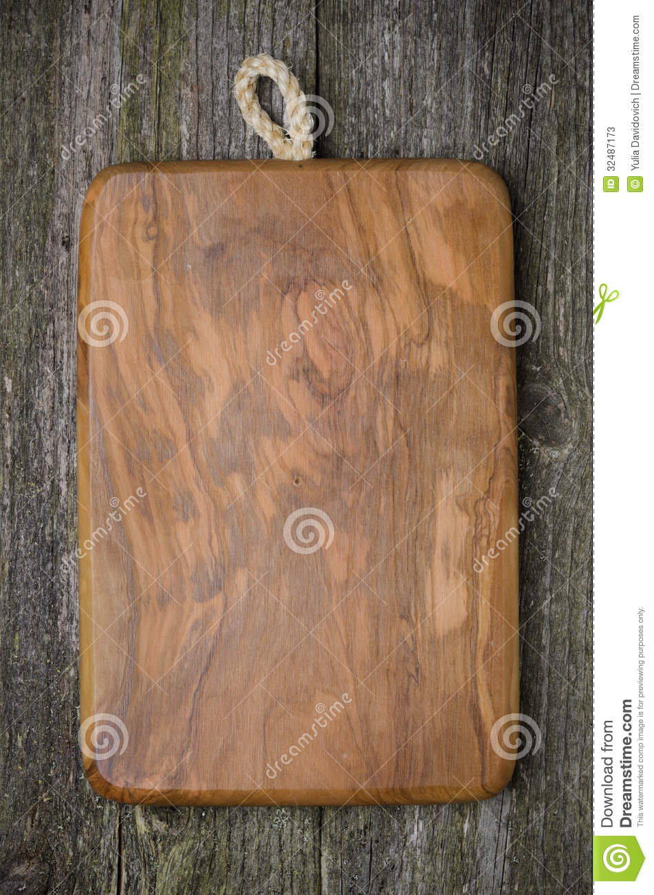Old Wood Board ~ Vintage cutting board with space for text on old wood