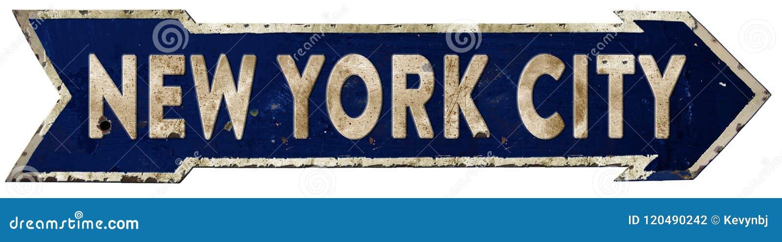 Vintage da seta de New York City Streetsign