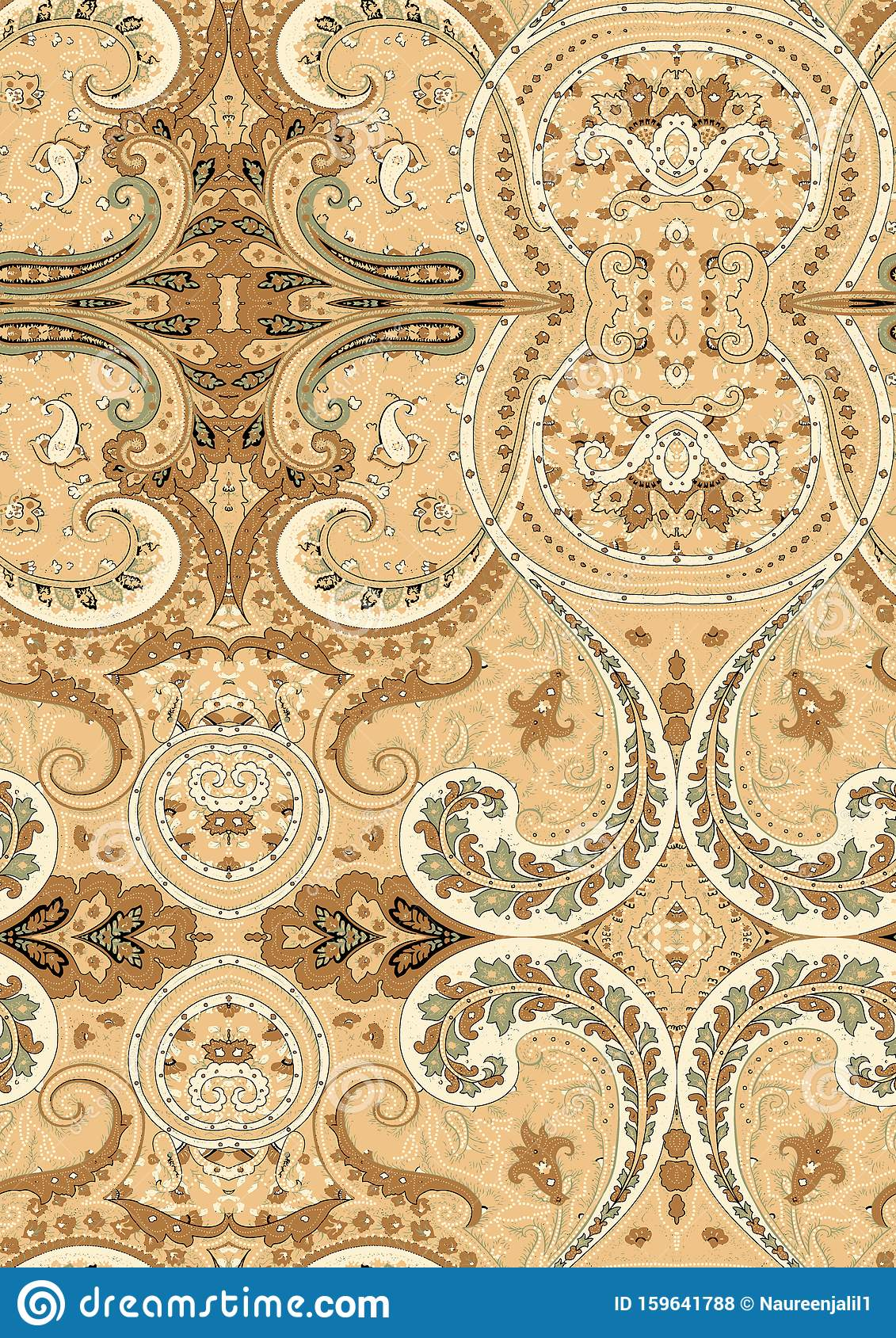 Vintage Damask Seamless Pattern Element. Elegant Luxury ...