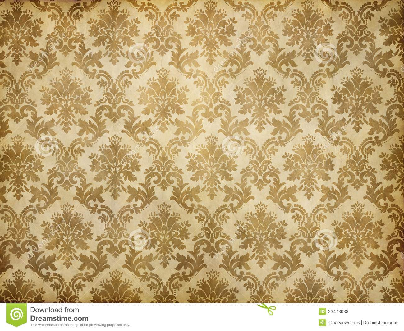 Vintage Damask Wallpaper Royalty Free Stock Photos - Image: 23473038