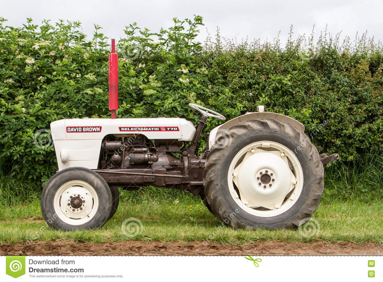 White Tractor Rims : A vintage david brown white tractors parked up editorial