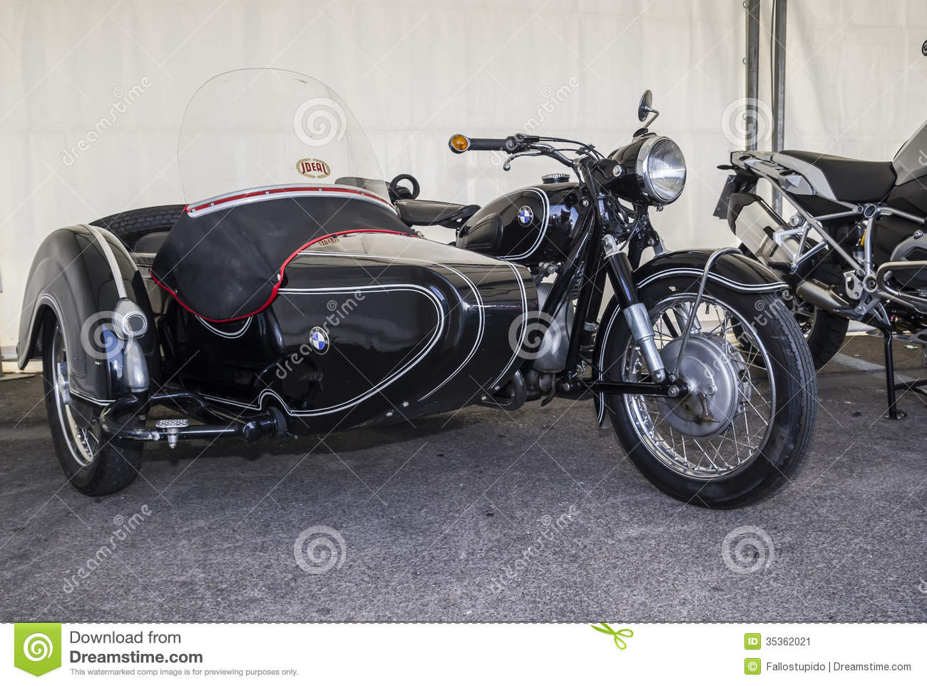 Vintage Motorcycle With Sidecar For Sale