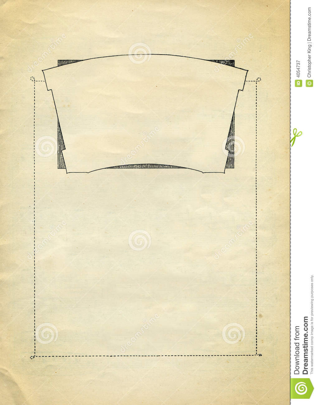 Vintage Decorative border Design with clear panels to add your own ...