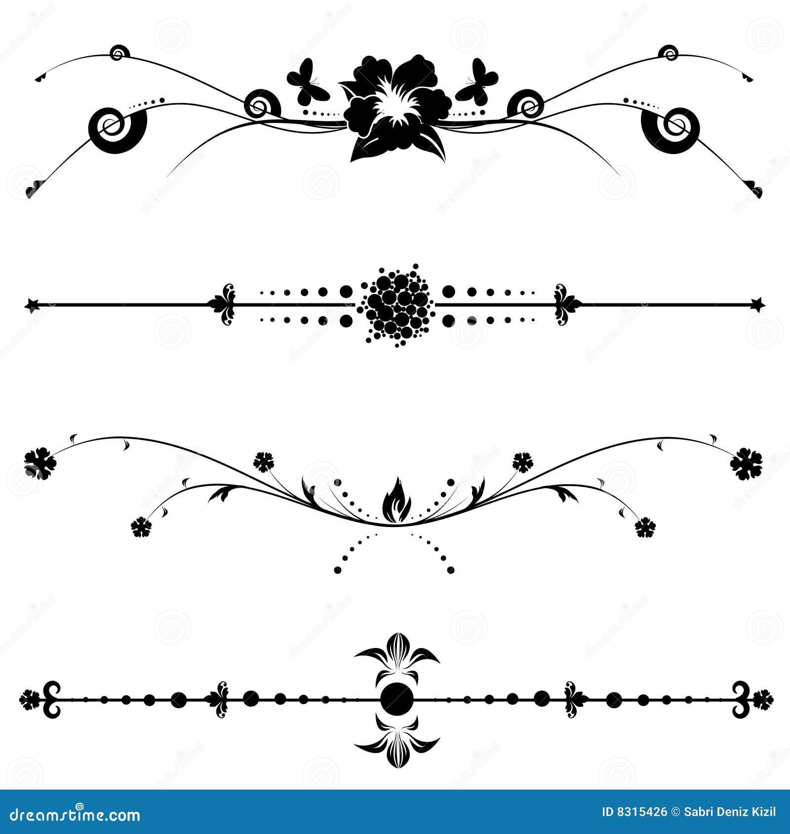 Vintage Decorative Designs Royalty Free Stock Image