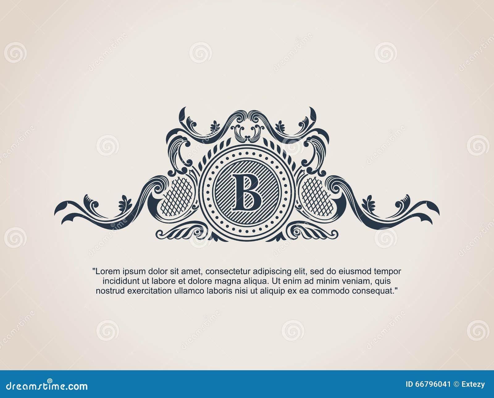 on antique monogram letter c template