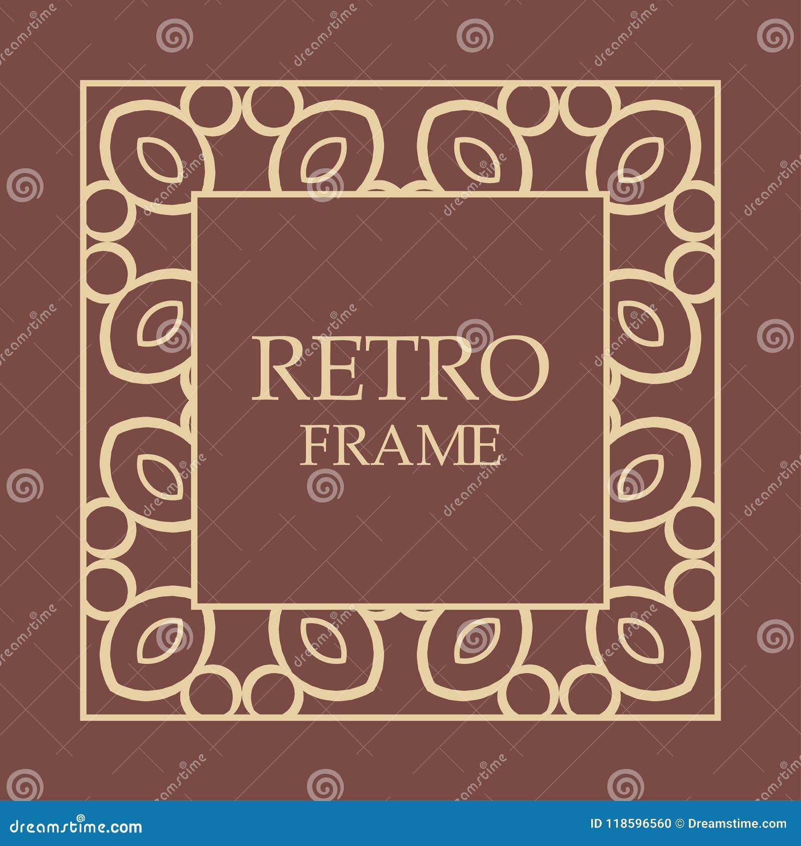 Vintage decorative frame stock vector. Illustration of border ...