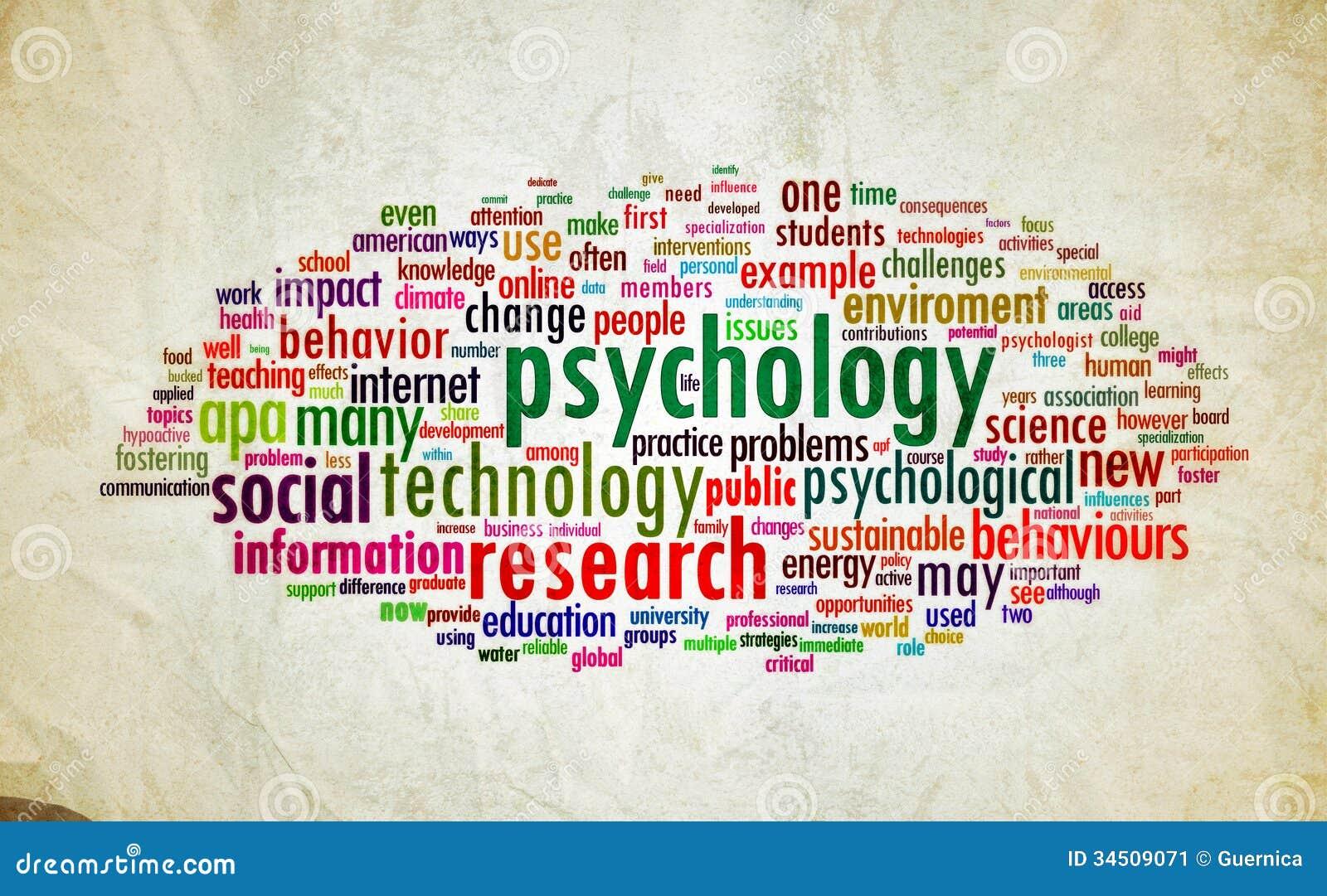 Vintage del diseño de la psicología