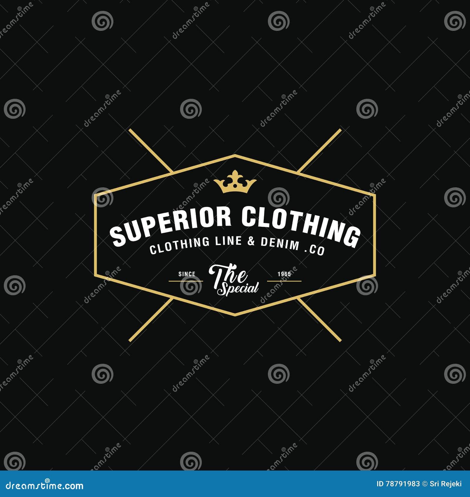 a5e2189c28d Vintage Denim Jeans Frame Logo. Classical Clothing Line Label. Stock ...