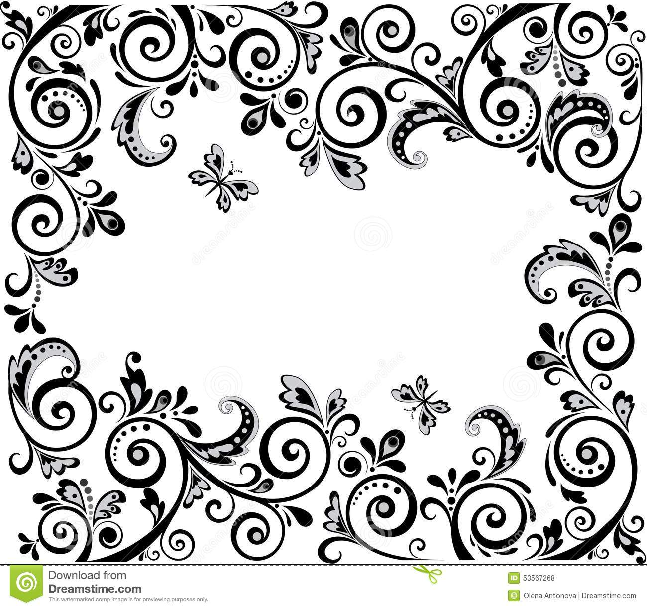 Vintage Design Black And White Stock Vector Illustration Of