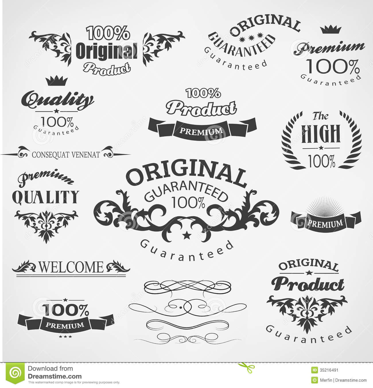 Elements For Design : Vintage design elements stock vector image of calligraphy