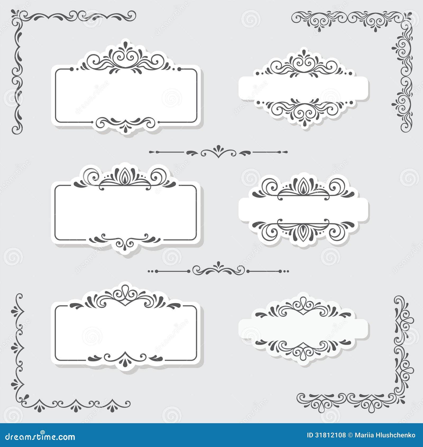 Vintage Design Elements Royalty Free Stock Photos - Image: 31812108