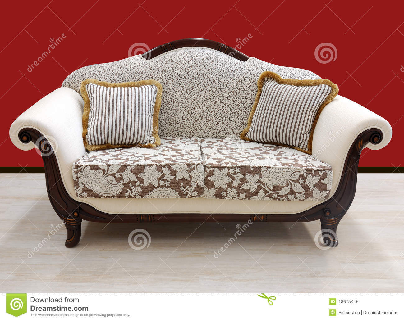 vintage design style sofa stock image image of interior 18675415. Black Bedroom Furniture Sets. Home Design Ideas