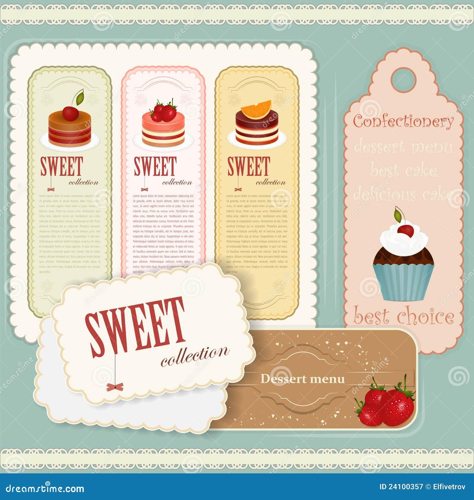 vintage dessert menu