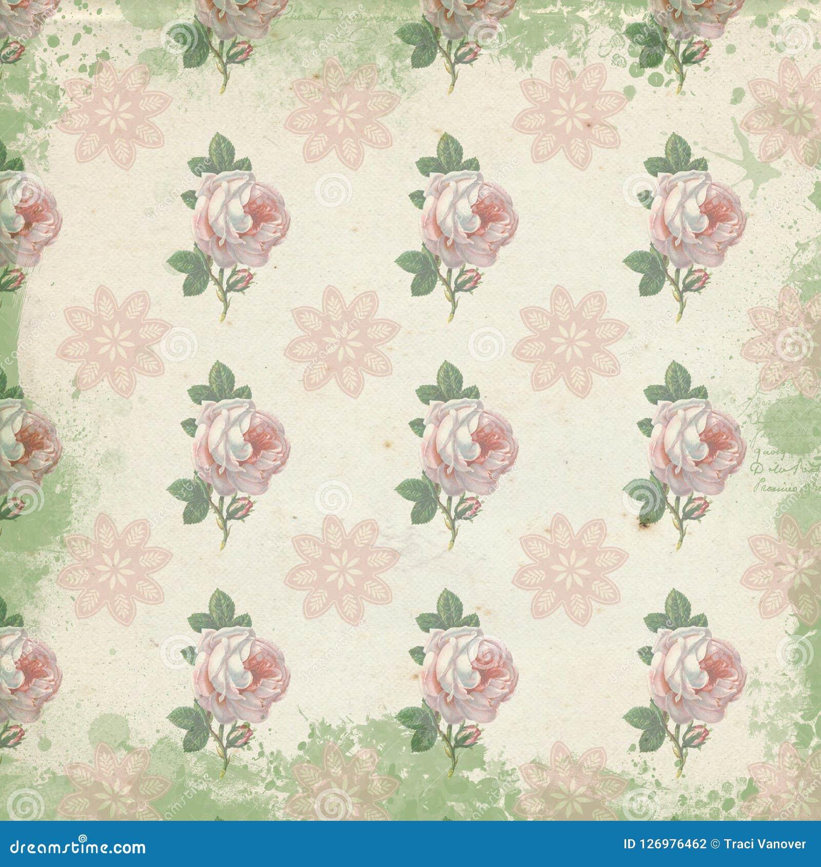 Tremendous Vintage Digital Paper Background Texture Shabby Chic Interior Design Ideas Lukepblogthenellocom