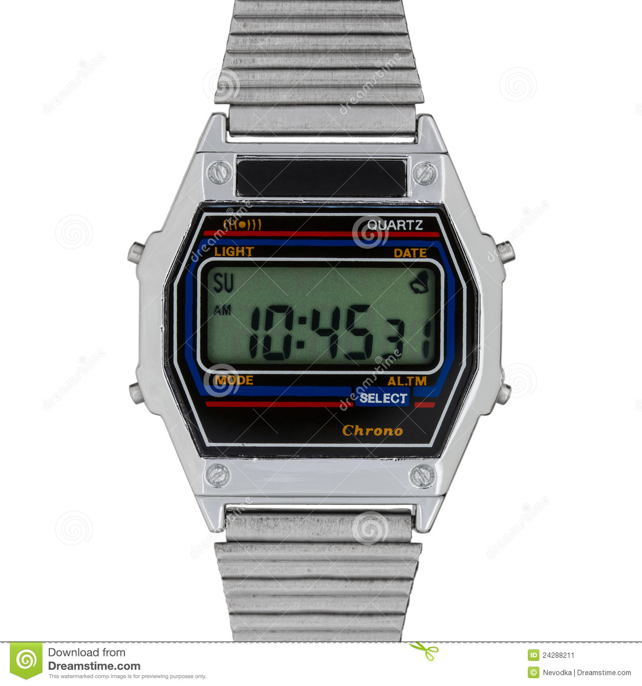 how to change the time on a digital watch