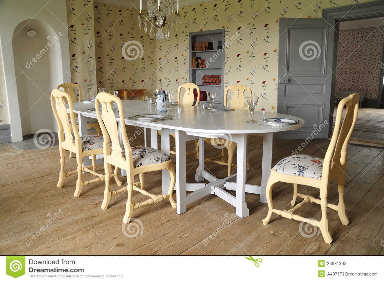 Vintage Dining Room Stock Photos - Image: 24981343