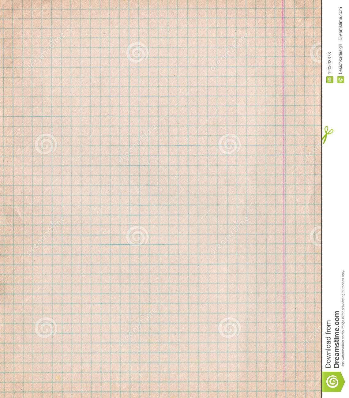 vintage dirty graph paper  stock image  image of math