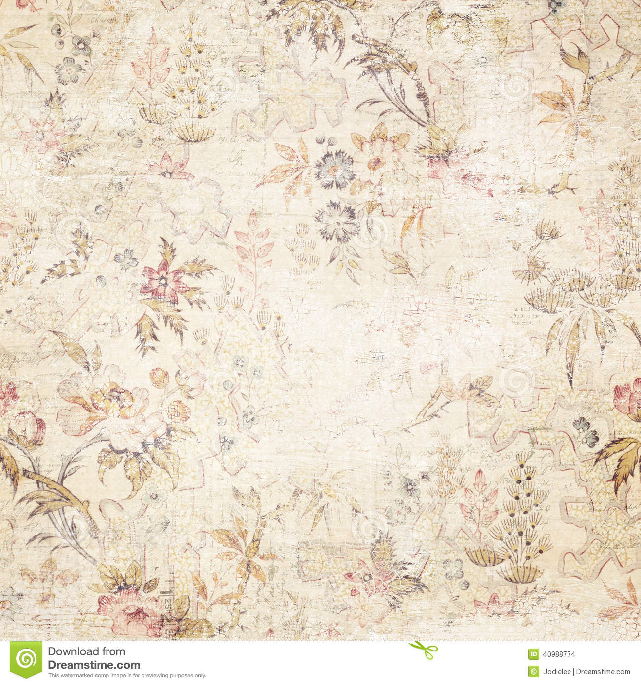 Vintage Distressed Floral Background Stock Photo Image Of
