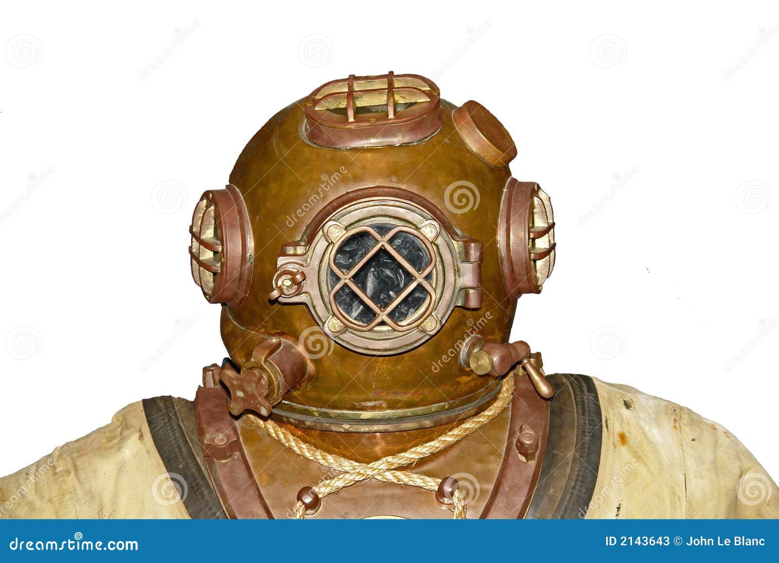 Vintage Diver Head Stock Photos - Image: 2143643