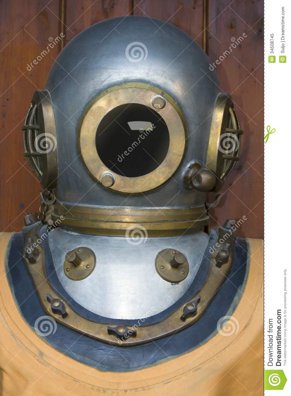 vintage diving helmet royalty free stock photo image
