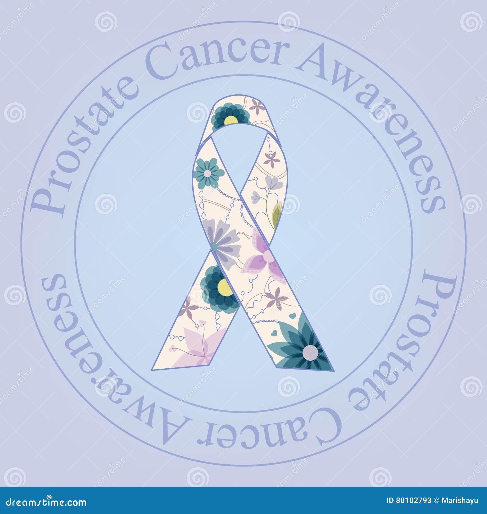 Vintage do selo da conscientização do câncer da próstata