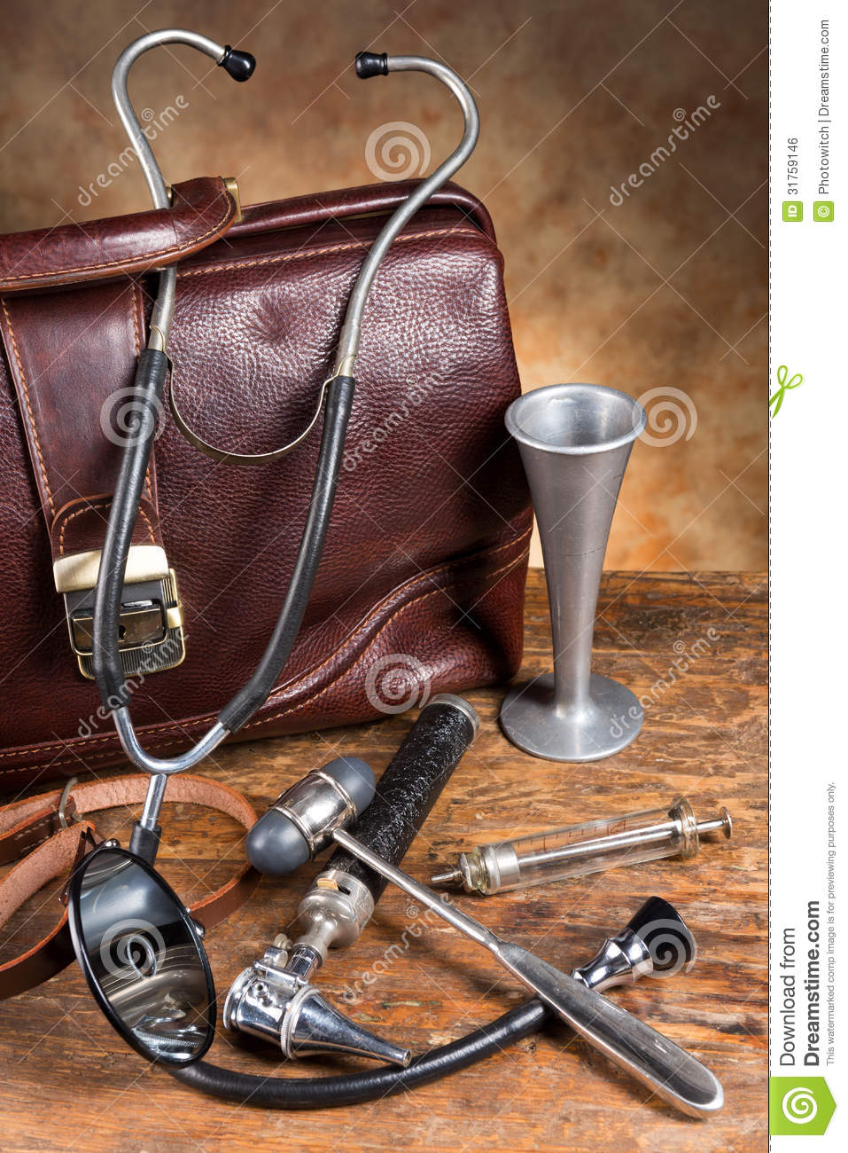 Vintage Doctor S Instruments Royalty Free Stock Image