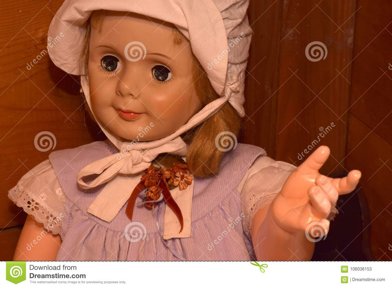 dolls with creepy eyes stock image. image of texture - 106036153