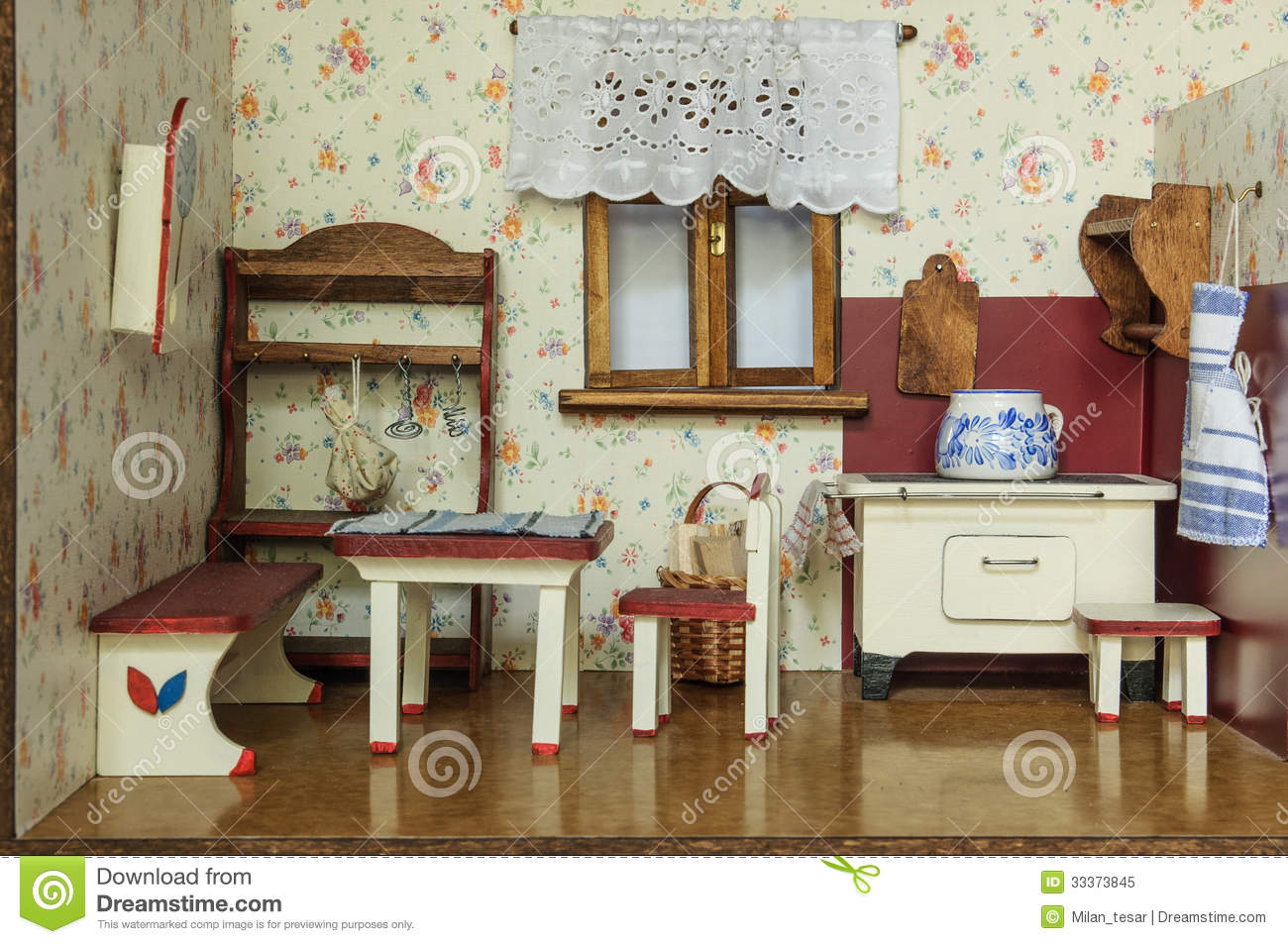 Vintage Doll House Royalty Free Stock Photo Image 33373845