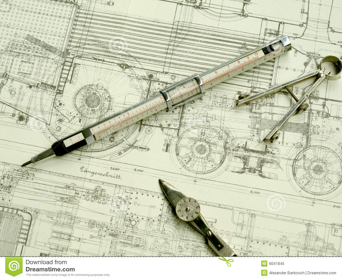 Vintage Drawing Tools Stock Image Image Of Draw Retro