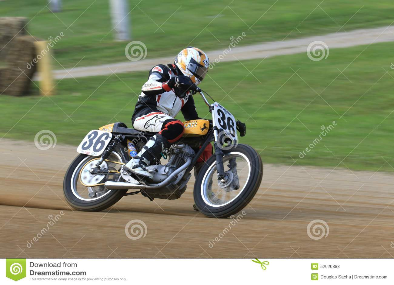 Vintage Ducati Bike Editorial Stock Photo Image Of Oval