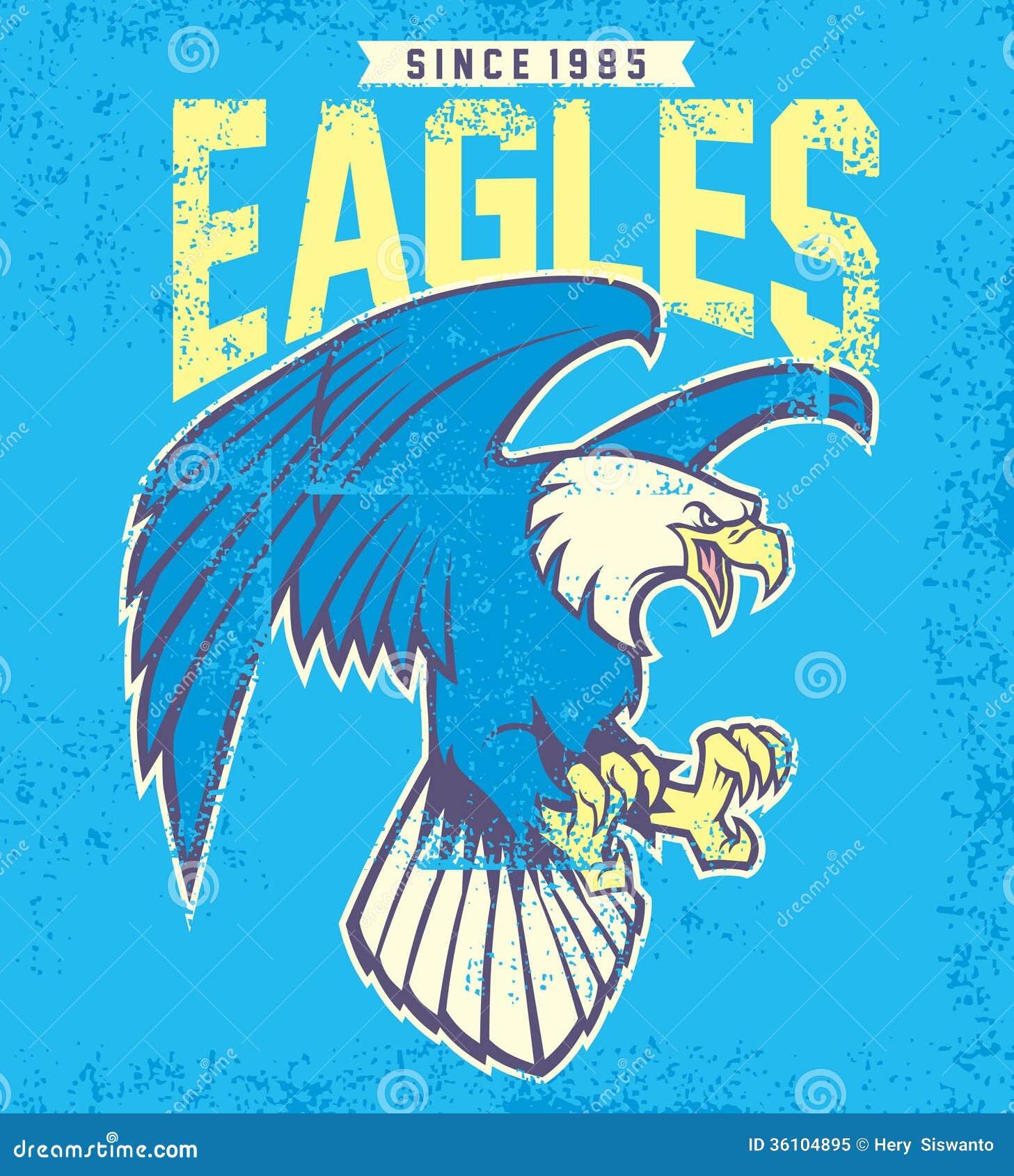 Vintage eagle mascot