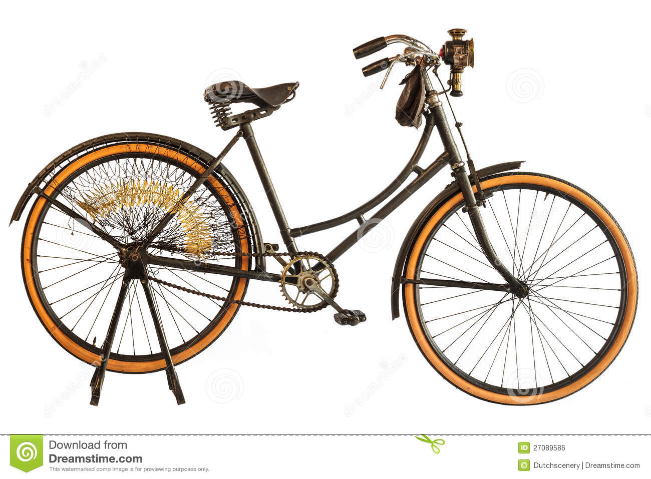 Vintage Early Twentieth Century Bicycle Stock Photo