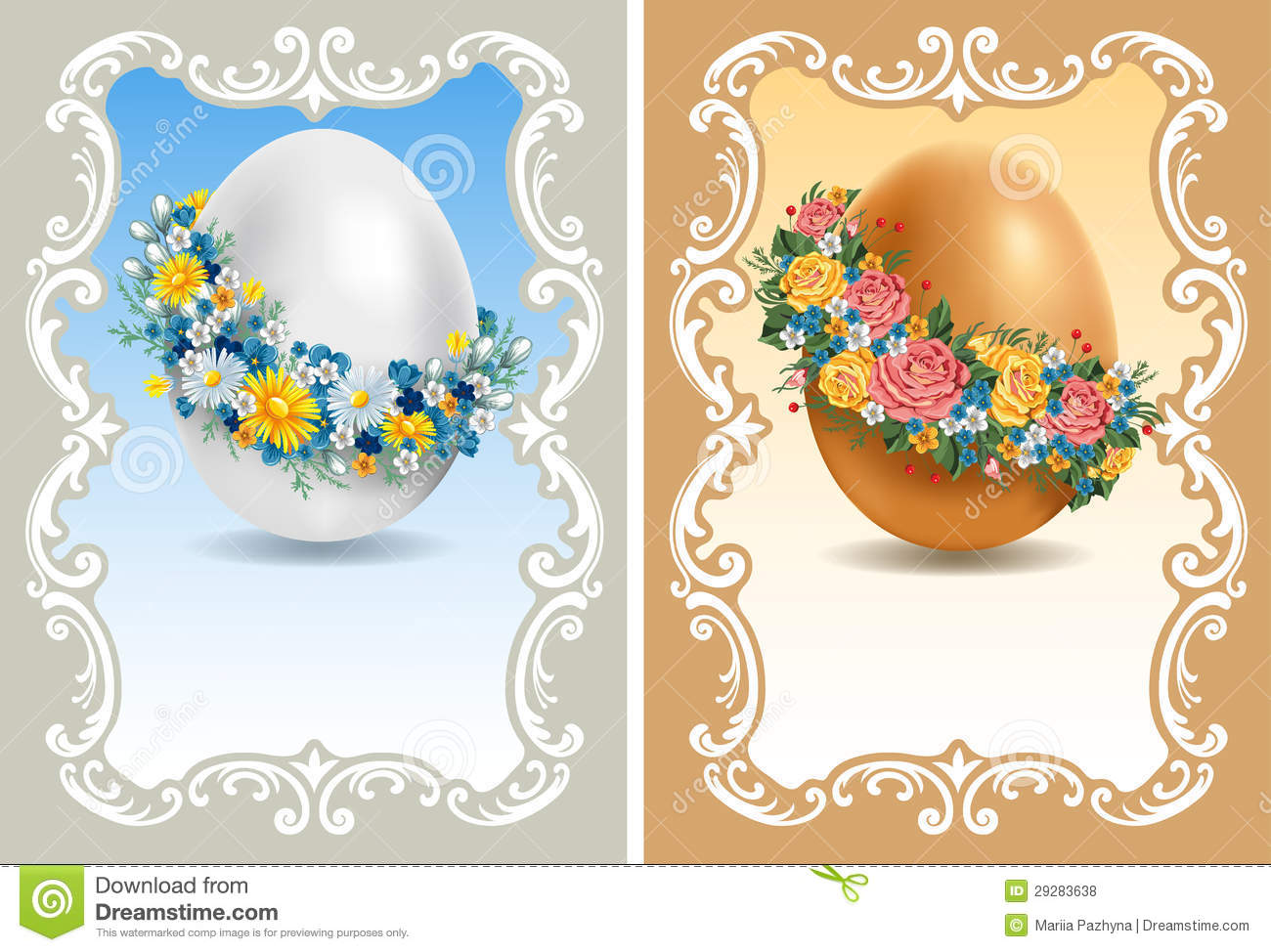 Vintage easter cards royalty free stock photos image 29283638