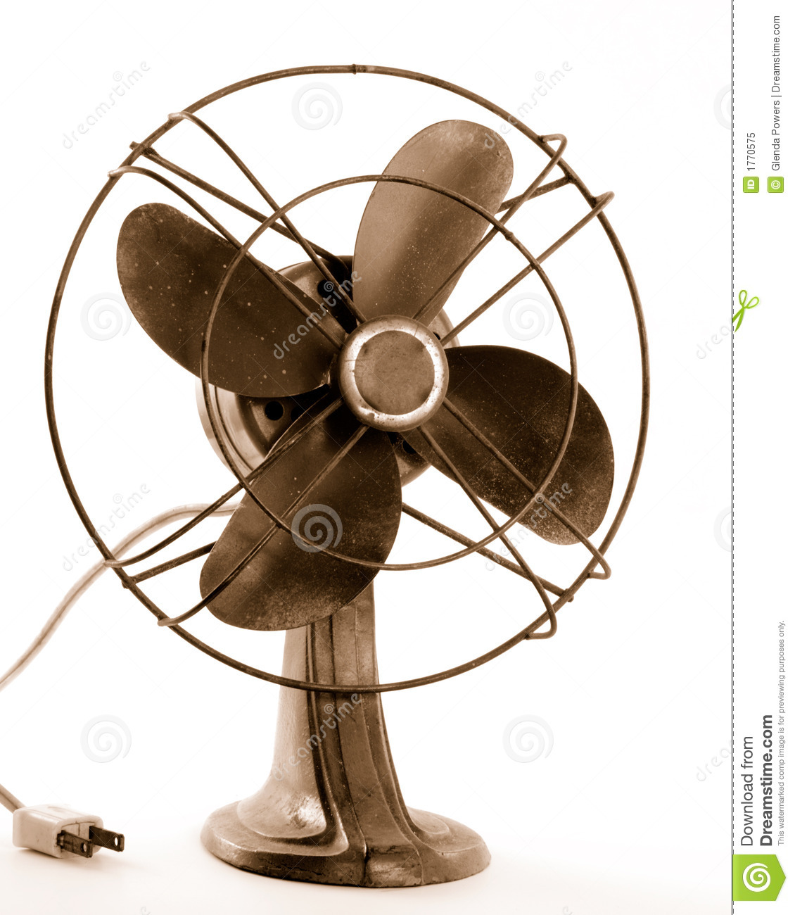 People Using Electric Fan : Vintage electric fan royalty free stock photo image