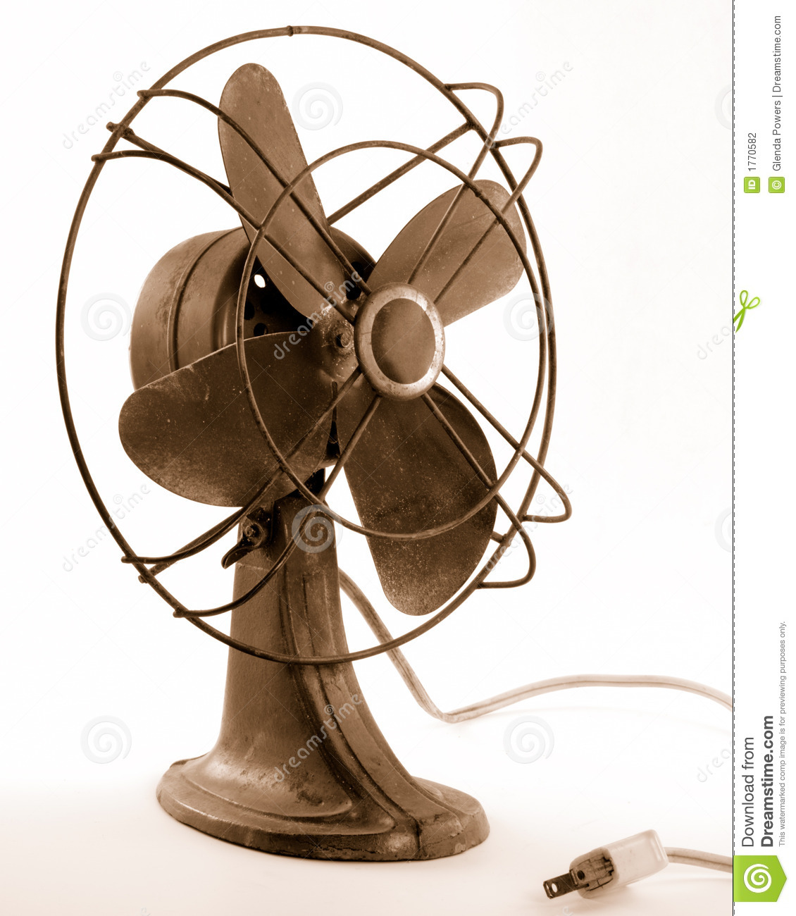 Vintage Electric Fan Stock Photography
