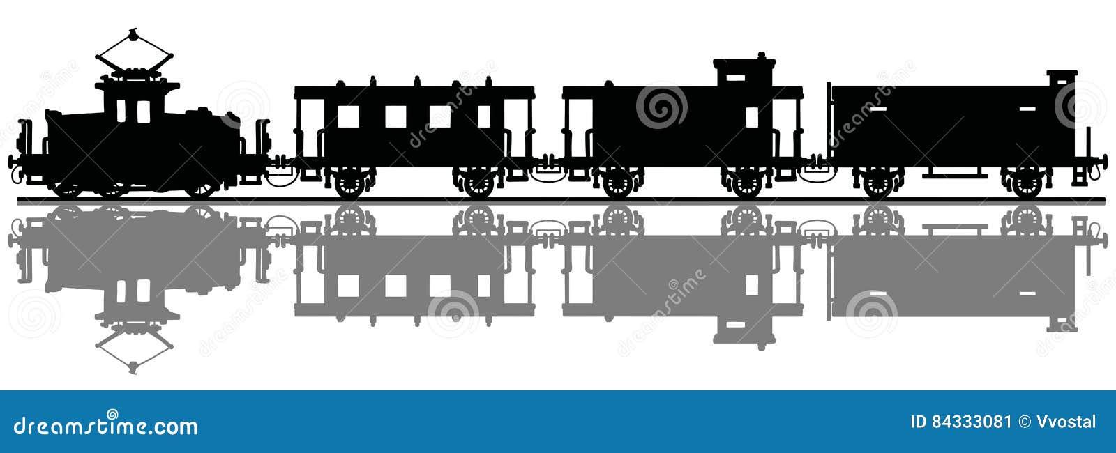 Vintage electric train