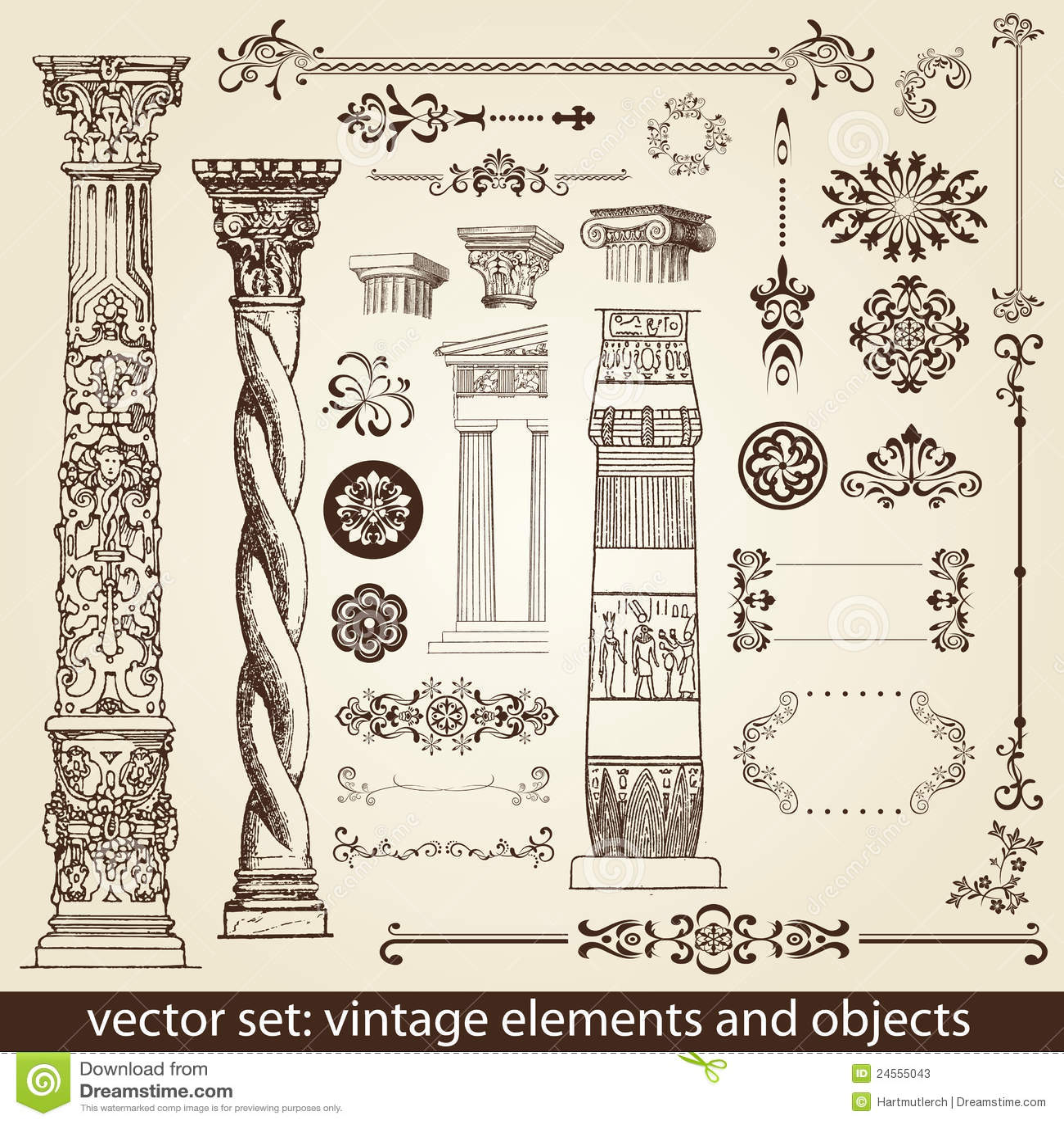 Vintage Elements - Antique - Stock Photos - Image: 24555043