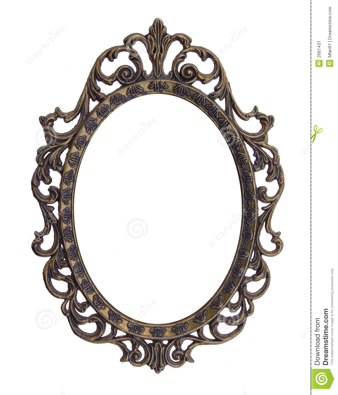 Vintage Elliptical Frame Stock Image Image Of Oval