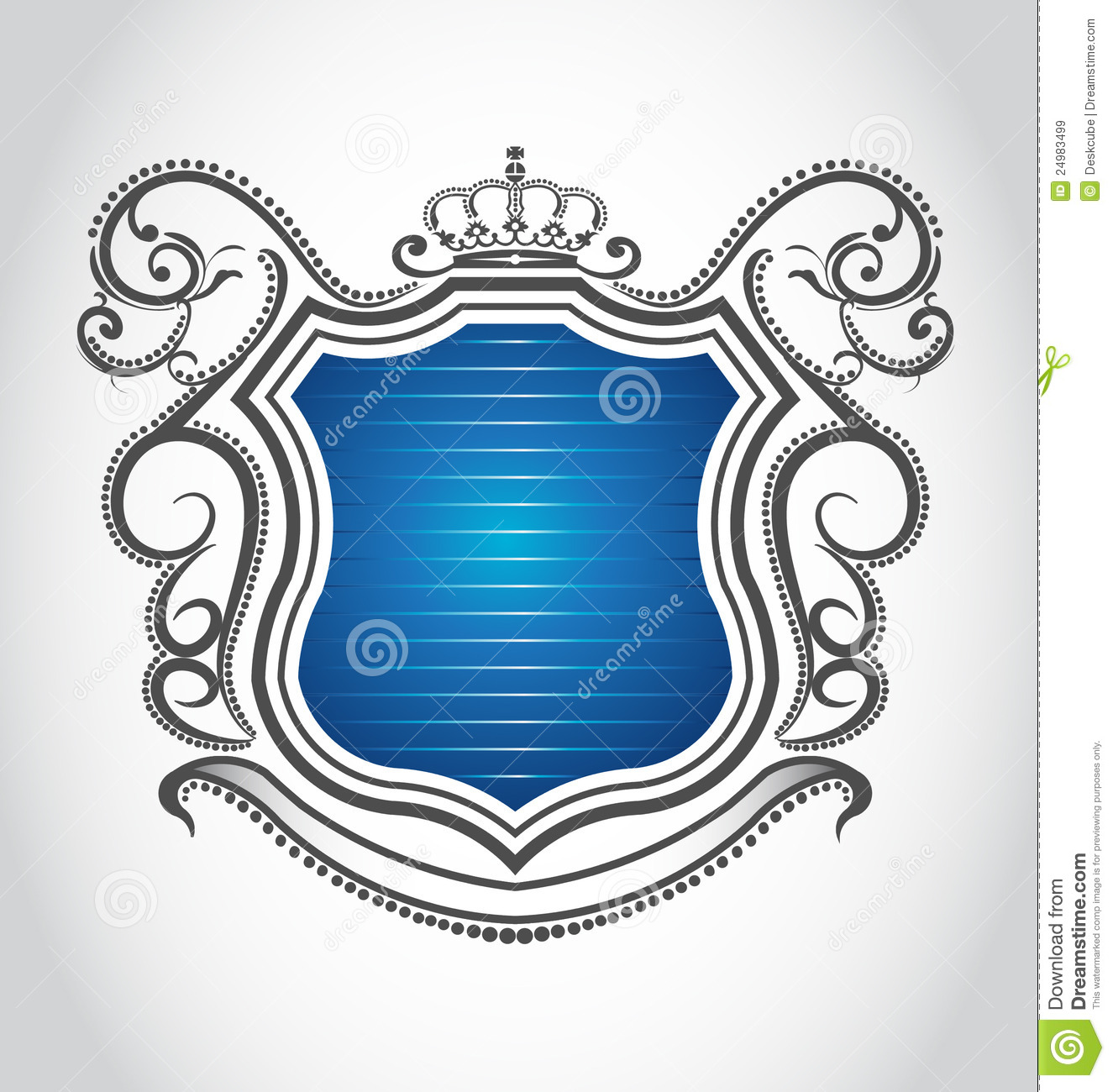 Vintage Emblem With Crown Royalty Free Stock Images - Image: 24983499