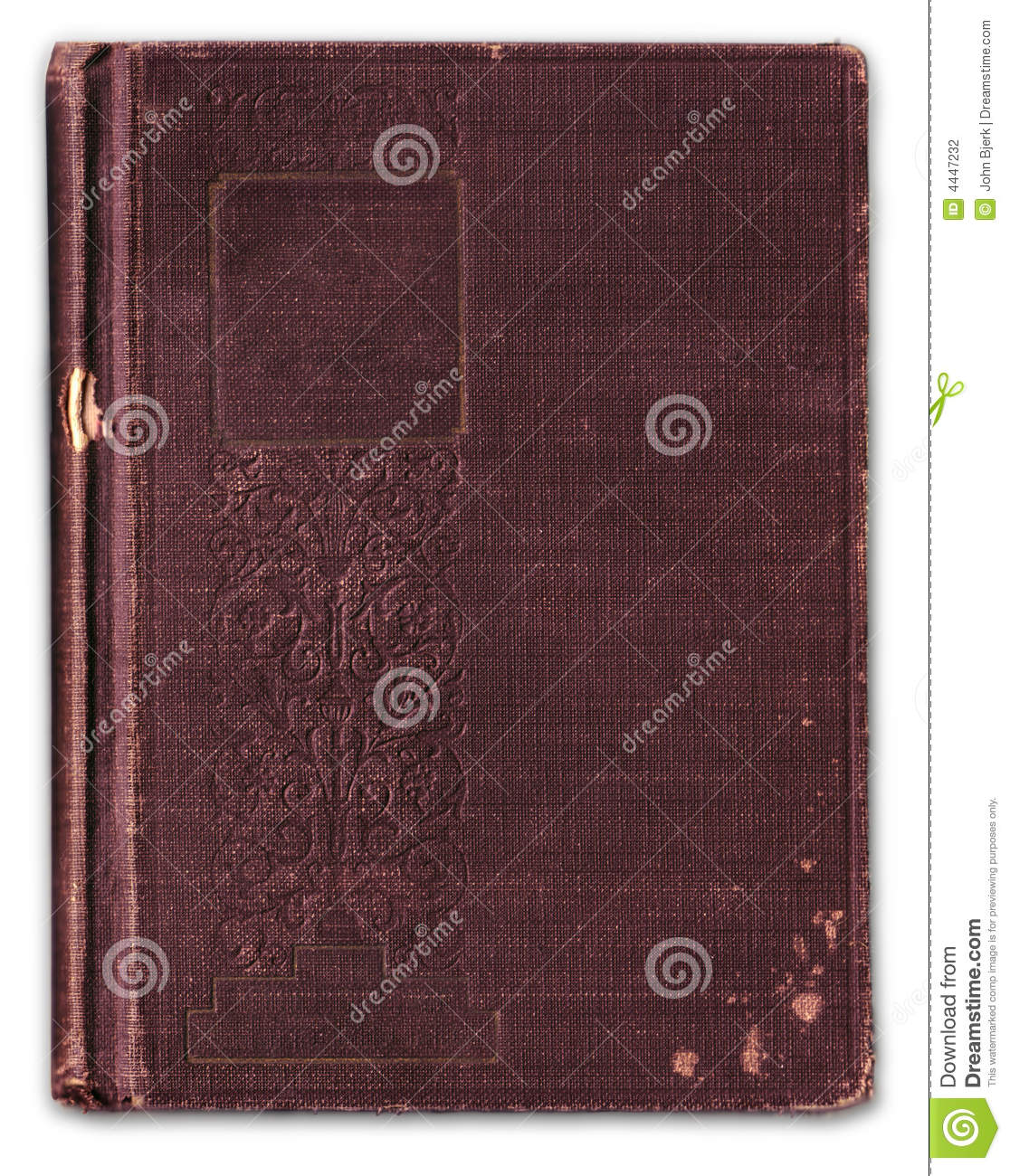 Embossing Fabric Book Cover ~ Vintage embossed bookcover blanked stock photography
