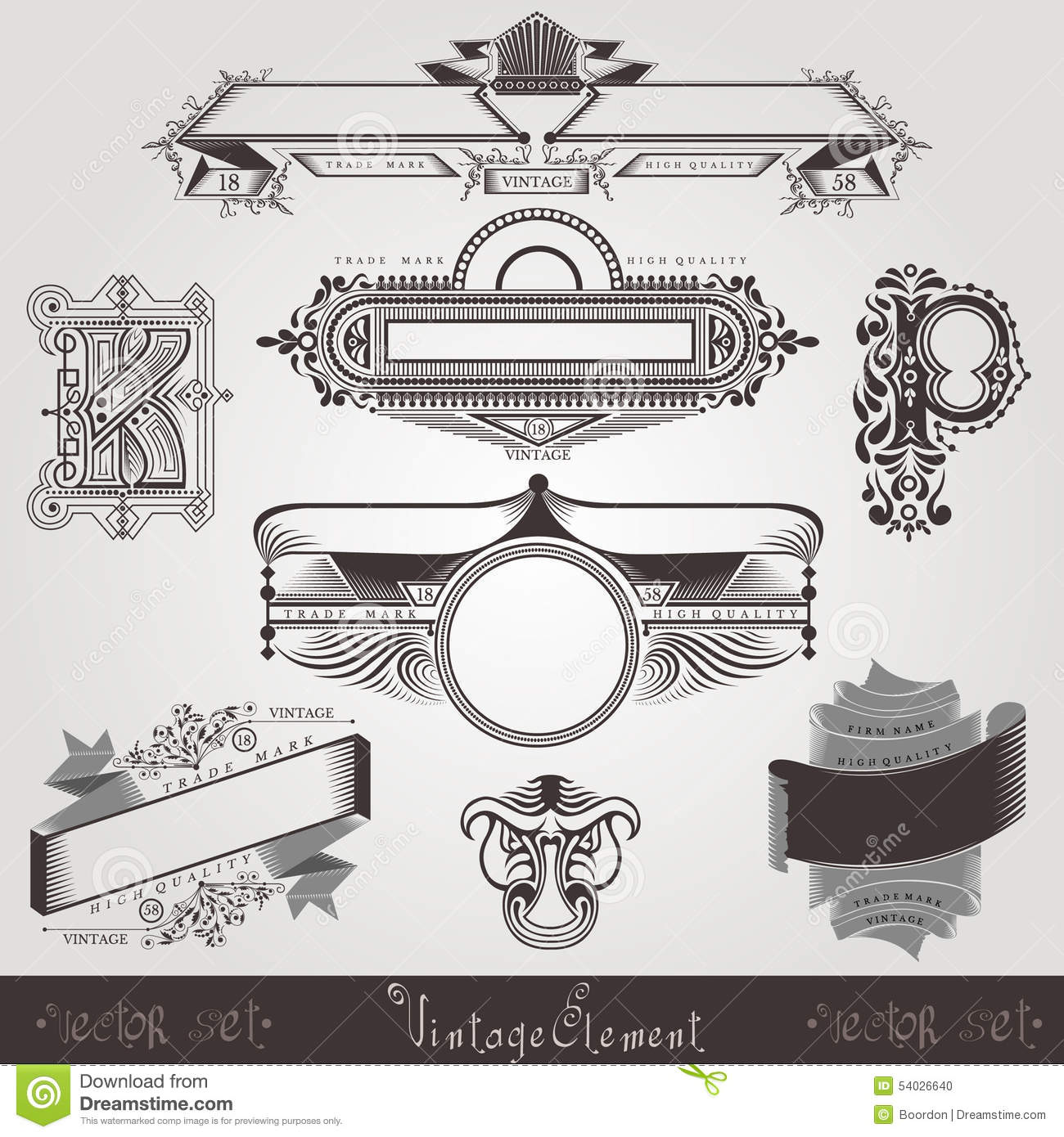 Vintage engraving banners with different letter and pattern stock download vintage engraving banners with different letter and pattern stock vector illustration of brand spiritdancerdesigns Image collections