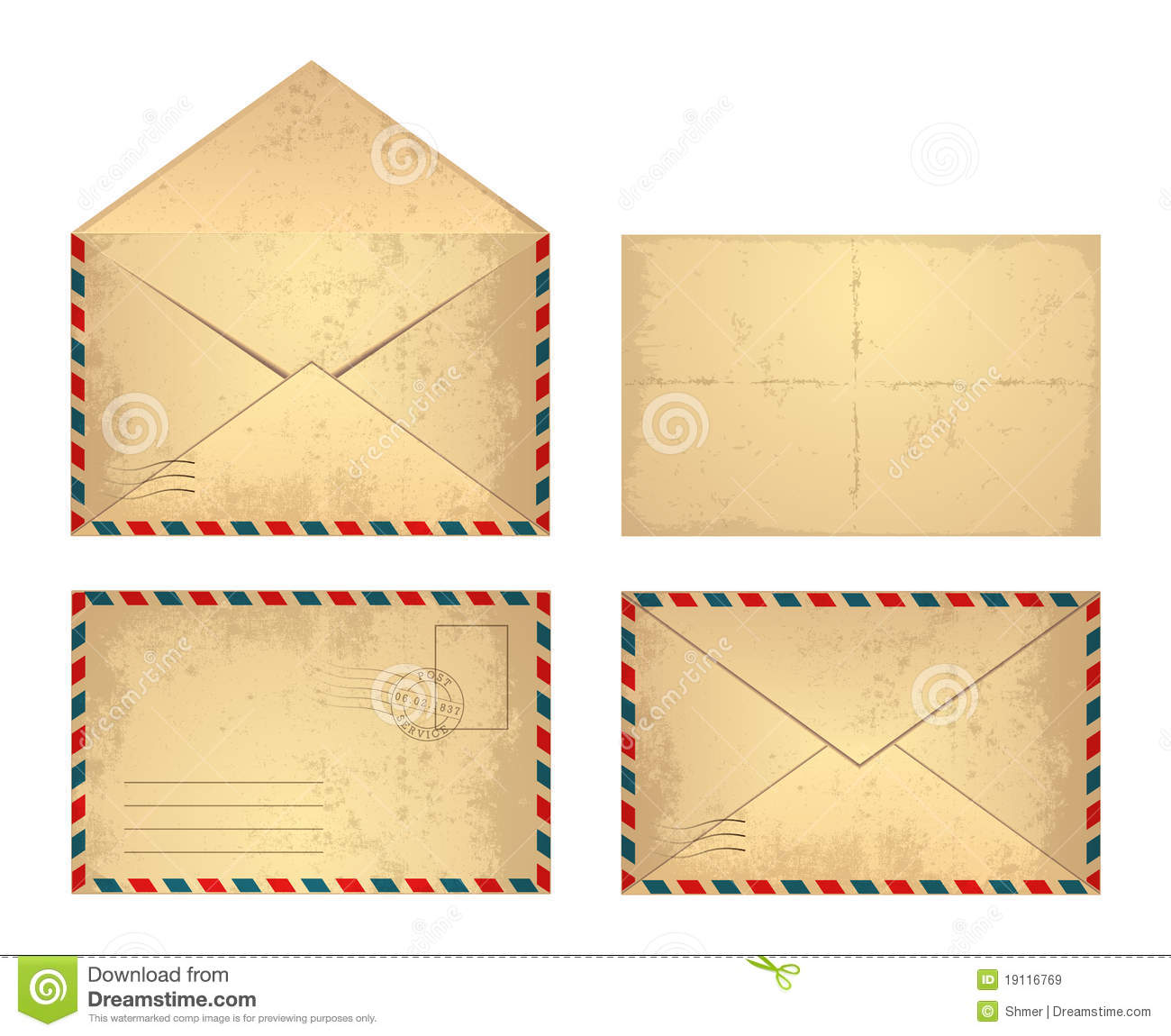 Vintage Envelope Royalty Free Stock Images Image 19116769