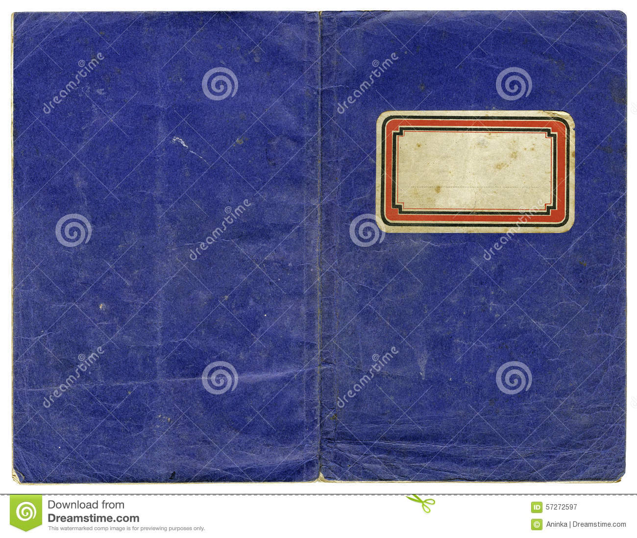 Book Cover Vintage Xl : Vintage exercise book stock image of empty